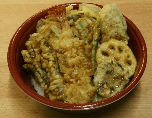 海老入り野菜天丼